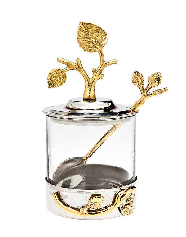 Leaf Jam Jar & Spoon