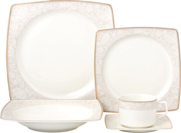 Amy 20pc - Bone China Dinner Set