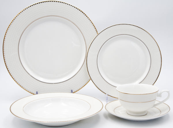 Pamela  20pc - Bone China Dinner Set