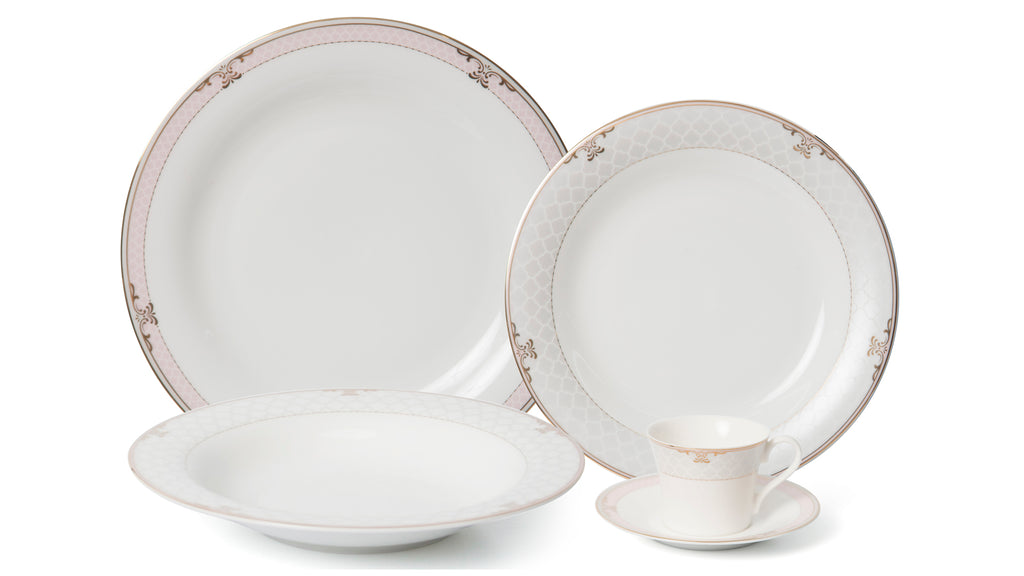 Floral Blush 20pc - Bone China Dinner Set