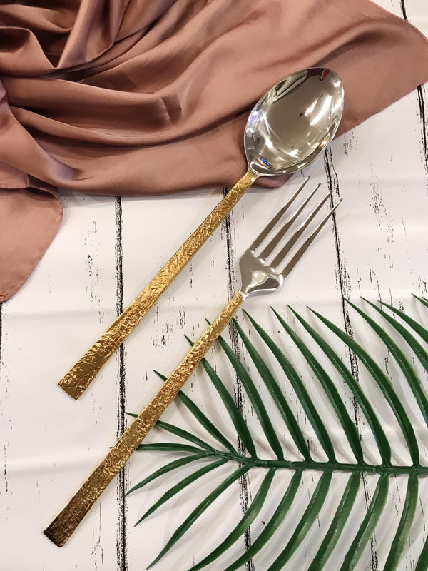 Salad Servers Gold Bar