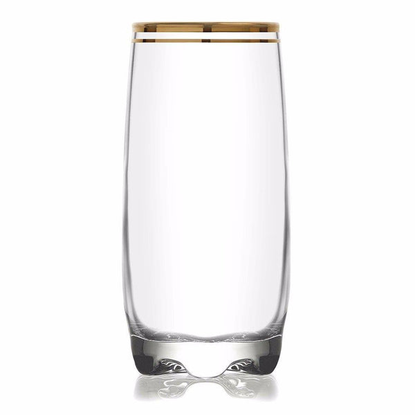 Pack of 6 ADORA GOLD 12.5 Oz Drinking Glass