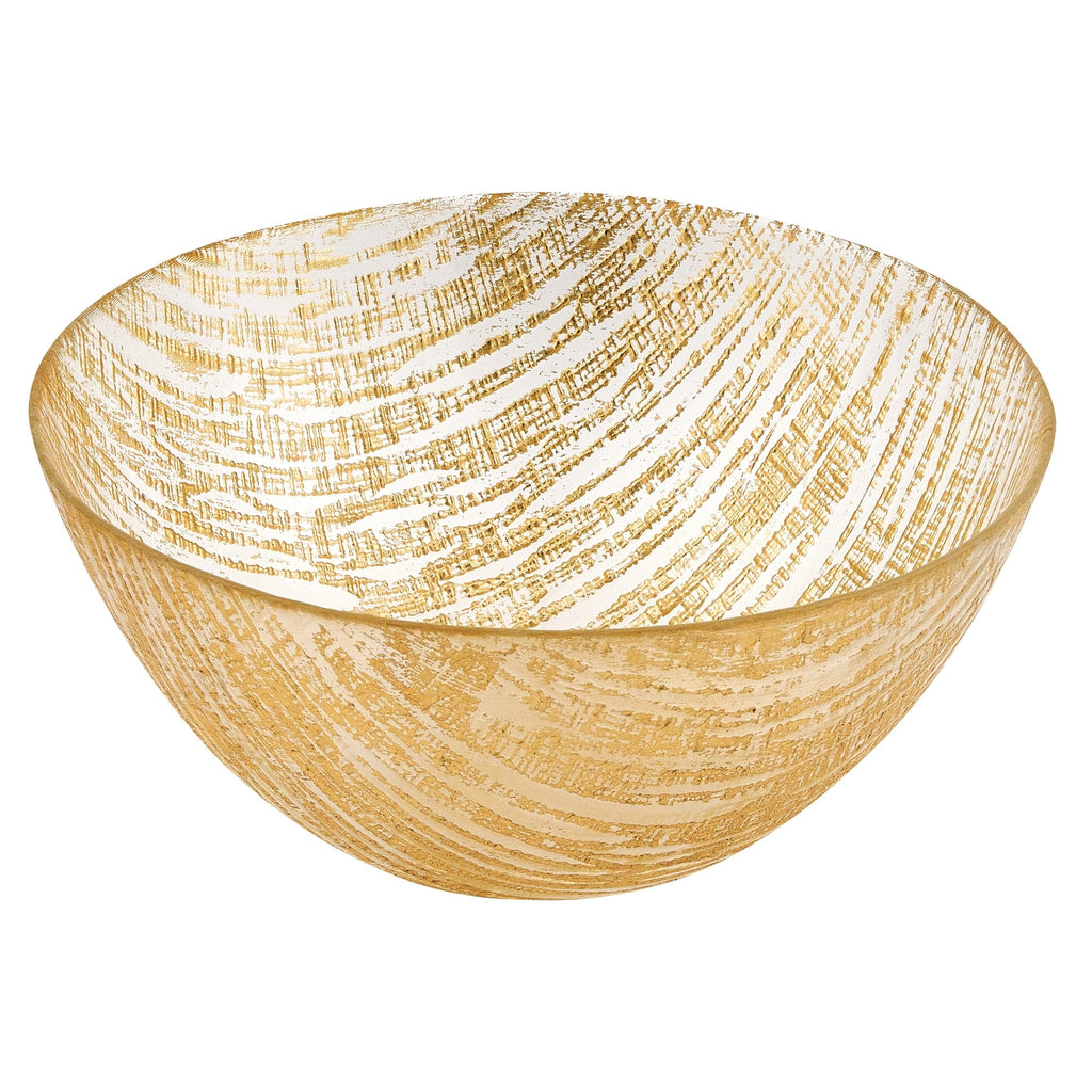 Lines Handcrafted Glass Bowl