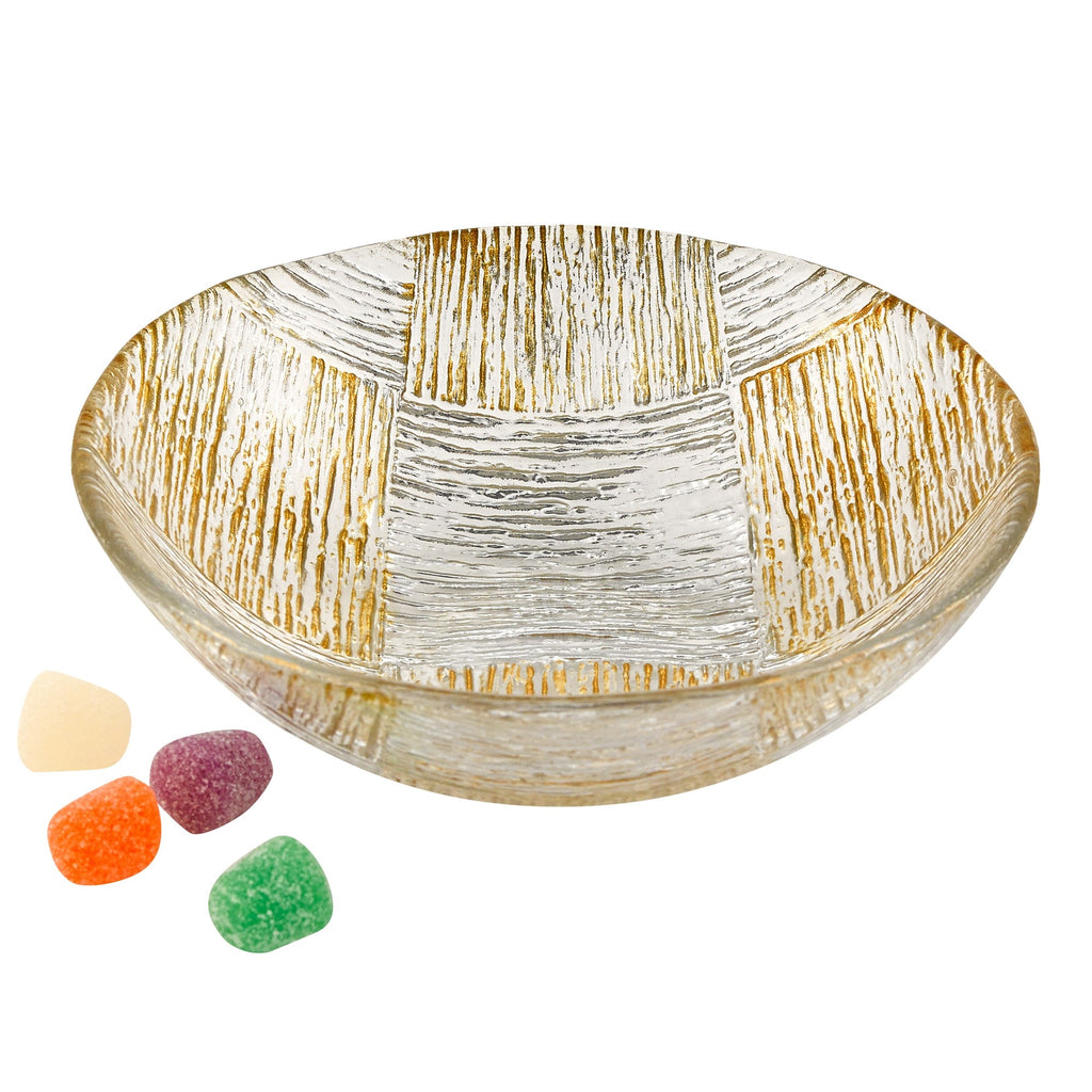 "Cubes 6"" Bowl Silver/Gold"