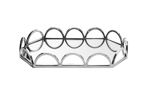 Oval Mirror Tray with Loop Design
