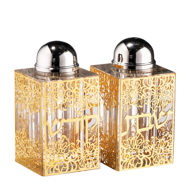 Crystal Salt & Pepper Shaker Gold