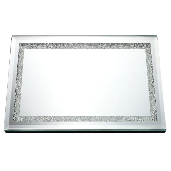 Mirror Tray With Diamonds 13.8 x 9.8