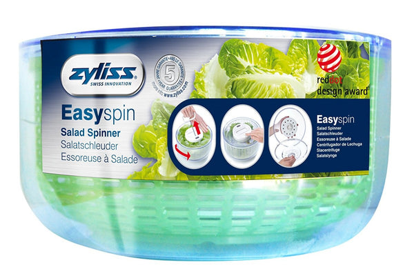 Zyliss Easy Spin Salad Spinner, Large, WHITE