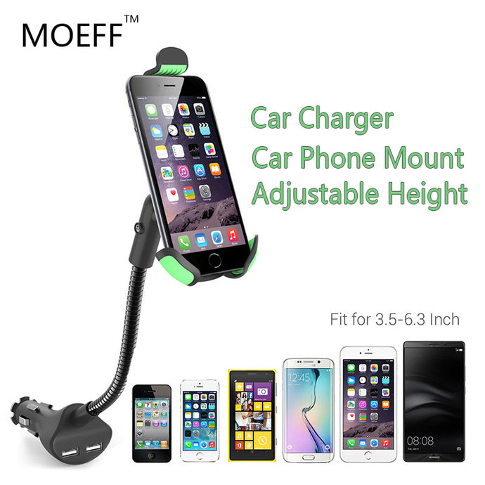 Universal Car Mobile Phone charger and Holder with USB ports for Mobile Phones