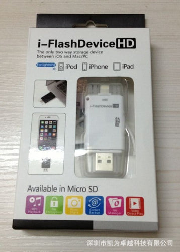USB External Micro-SD TF Card Reader For iPhone 5,  6,  6 plus, 7  and iPad