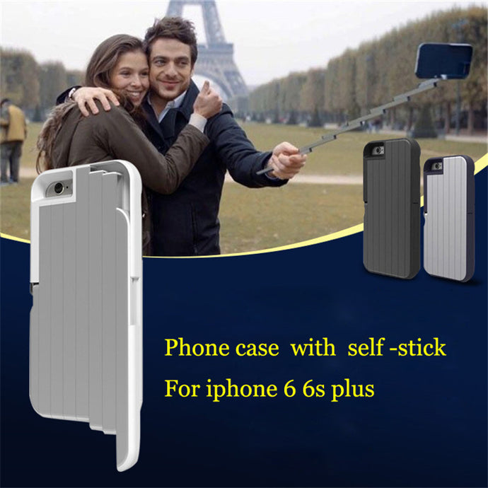 Phone Cover With Retractable Selfie Stick For iPhone 6 and 6s
