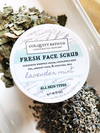 Handmade Lavender Mint Facial Scrub For Normal Skin