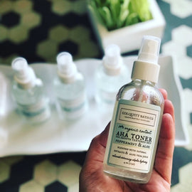 Organic Alpha Hydroxy Peppermint And Aloe Facial Toner