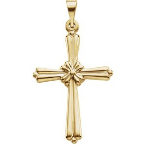 Rope Cross 14k Yellow Gold Pendant (35.00X25.50 MM)