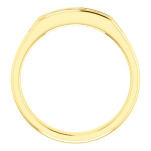 Men's 5-Stone Diamond Wedding Band, 14k Yellow Gold (.33 Ctw, Color G-H, SI2-SI3 Clarity) Size 11