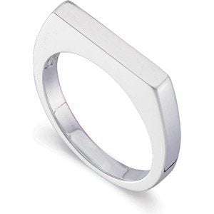 Sterling Silver Flat Top Stackable 3mm Ring, Size 7
