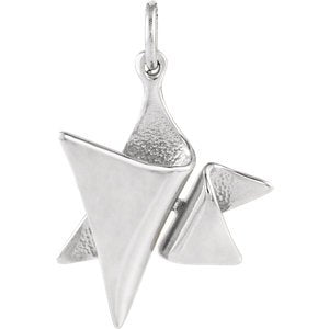 Elegant Star of David 14k White Gold Pendant (Made in Holy Land)
