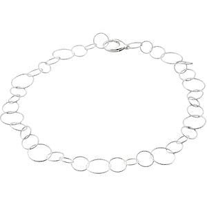 Sterling Silver Twisted Link Bracelet, 7.5''