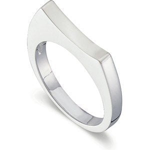 Sterling Silver Eclipse 2.75mm Stackable Ring, Size 7