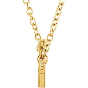 "Sideways Cross 14k Yellow Gold Necklace, 20-22"" (22X11.5 MM)"