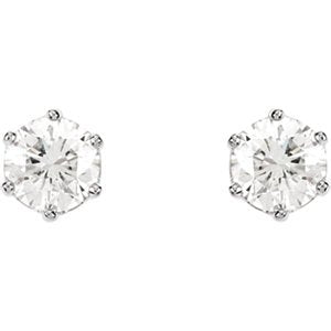 Diamond Stud Earrings, Rhodium-Plated 14k White Gold (2 Cttw, Color GH, Clarity I1)