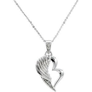 Sterling Silver The Broken Wing Pendant With Chain, 18""