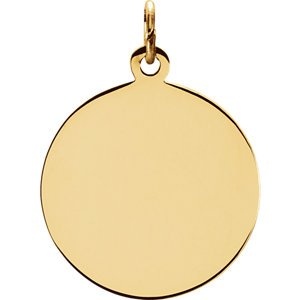 14k Yellow Gold Round Holy Trinity Medal (18.25 MM)