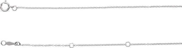 Sterling Silver 1mm Solid Cable Chain Necklace, 24""