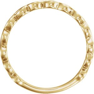 Infinity-Inspired Stackable Ring, 14k Yellow Gold, Size 6