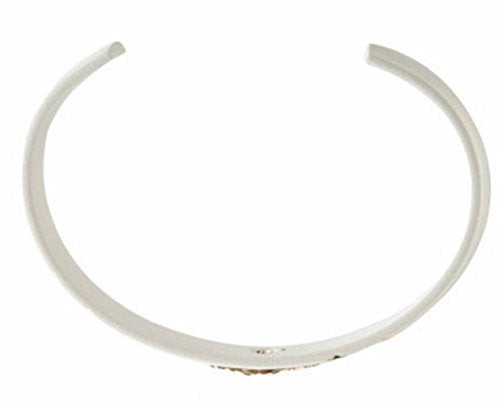 Petite White Enamel Trim Bangle Bracelet, 10k Yellow Gold, 12k Green and Rose Gold Black Hills Gold Motif