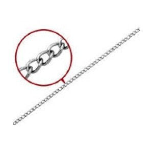 4.8mm, Men's Stainless Steel Curb Chain with Lobster Clasp 18""