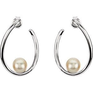 Freshwater Cultured Pearl Earrings, 7MM - 7.50 MM, Sterling Silver