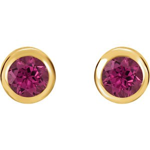 October Birthstone Stud Earrings, 14k Yellow Gold