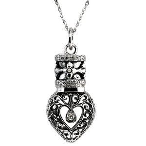 Sterling Silver Heartfelt Tear Necklace 18""