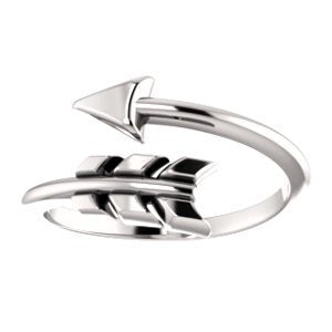 Bypass Arrow Ring, Sterling Silver