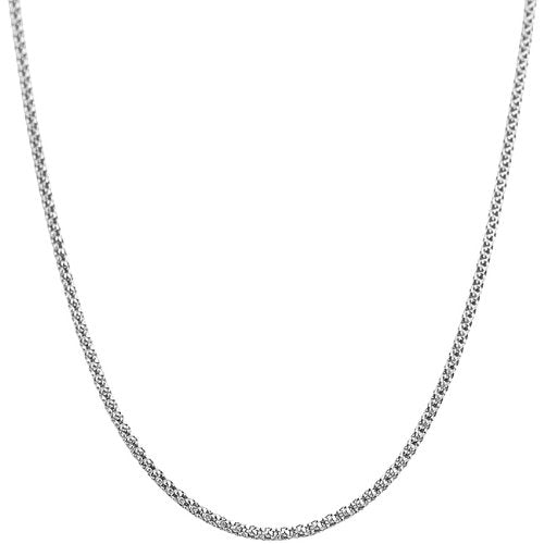 1.5 mm 14k White Gold Hollow Popcorn Chain, 16""