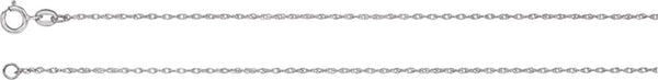 1 mm Sterling Silver Solid Rope Chain, 16""