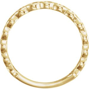 Circle Stackable Ring, 14k Yellow Gold