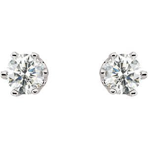 Diamond Stud Earrings, Rhodium-Plated 14k White Gold (.50 Cttw, Color GH, Clarity I1)