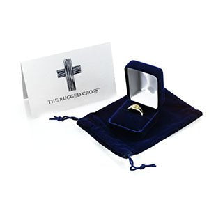 10k Yellow Gold Rugged Cross Signet Ring, Size 9