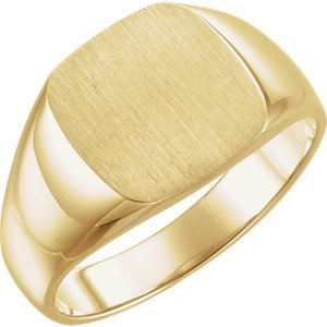 Men's Closed Back Signet Ring, 10k Yellow Gold (12mm)