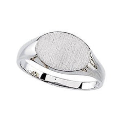 Sterling Silver Signet Ring, Size 6 to 7