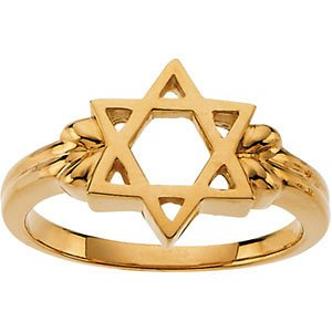 Women's 10k Yellow Gold Star of David Ring