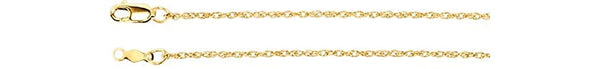 1.25mm 18k Yellow Gold Rope Chain, 18""