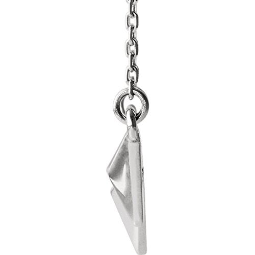 Geometric Pyramid Necklace, 14k White Gold 16-18""