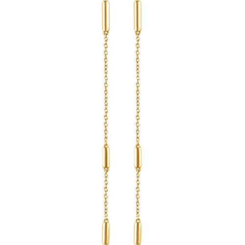 Bar Chain Earrings, 14k Yellow Gold