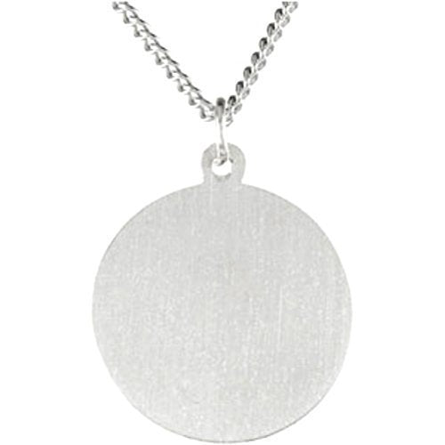 "Sterling Silver Round St. Patrick Necklace, 18"" (15MM)"