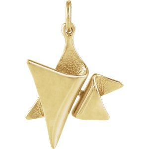 Elegant Star of David 14k Yellow Gold Pendant (Made in Holy Land)
