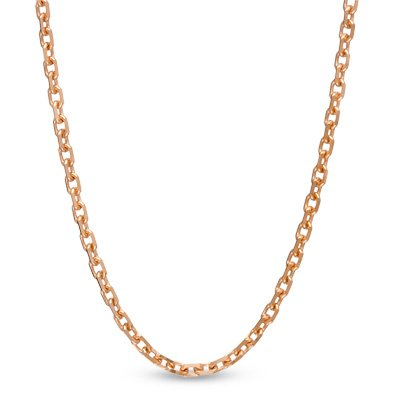 "5-Stone Diamond Letter 'C' Initial 14k Rose Gold Pendant Necklace, 18"" (.03 Cttw, GH, I1)"