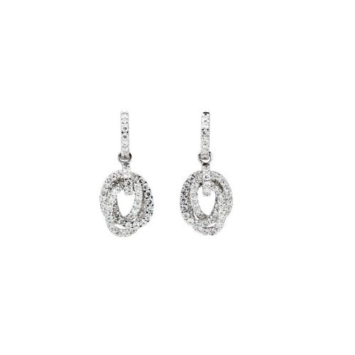 Charles & Colvard Forever Classic Moissanite Hoop Earrings, 14k White Gold